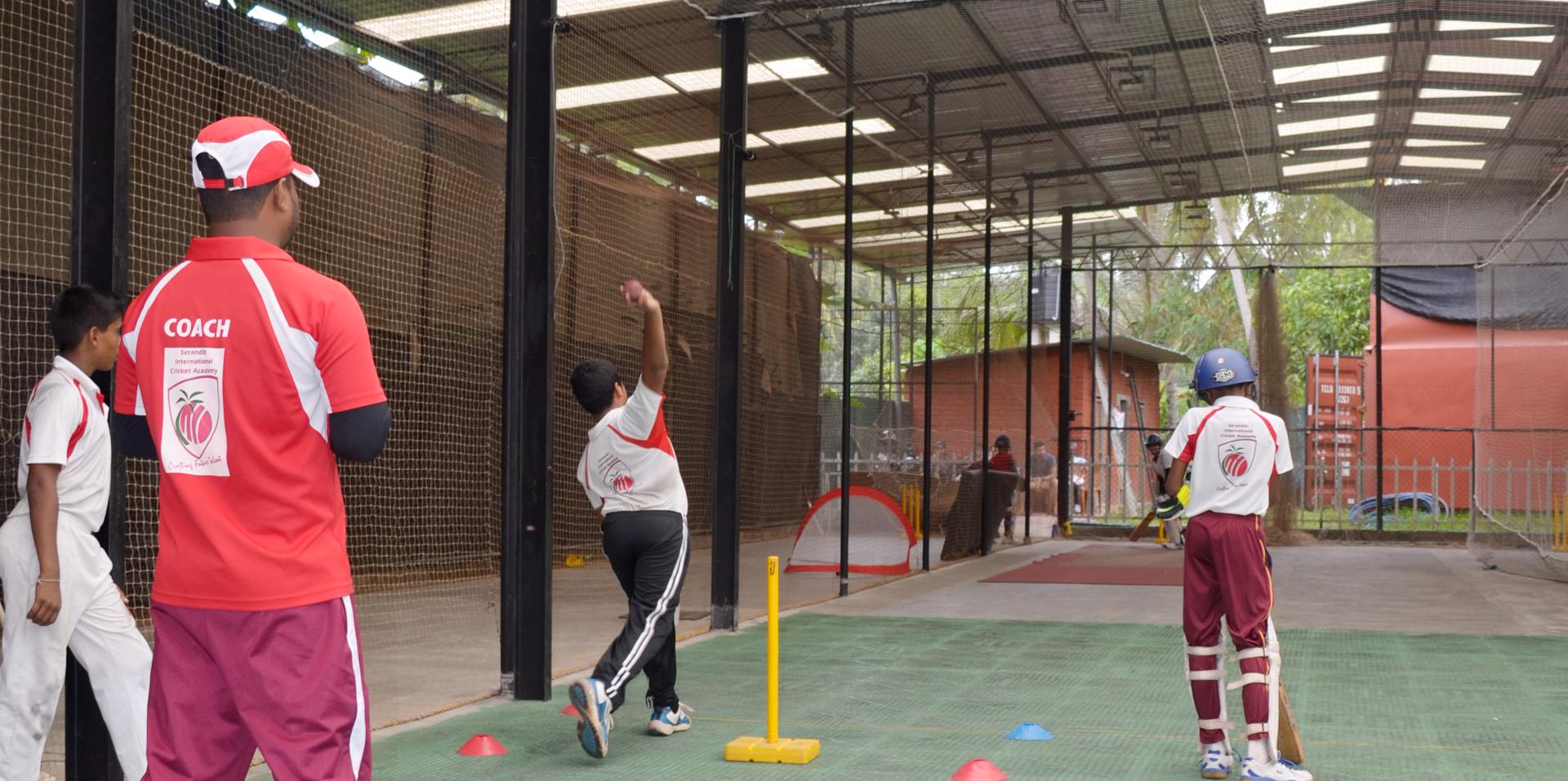 Floodlit Indoor cricket nets