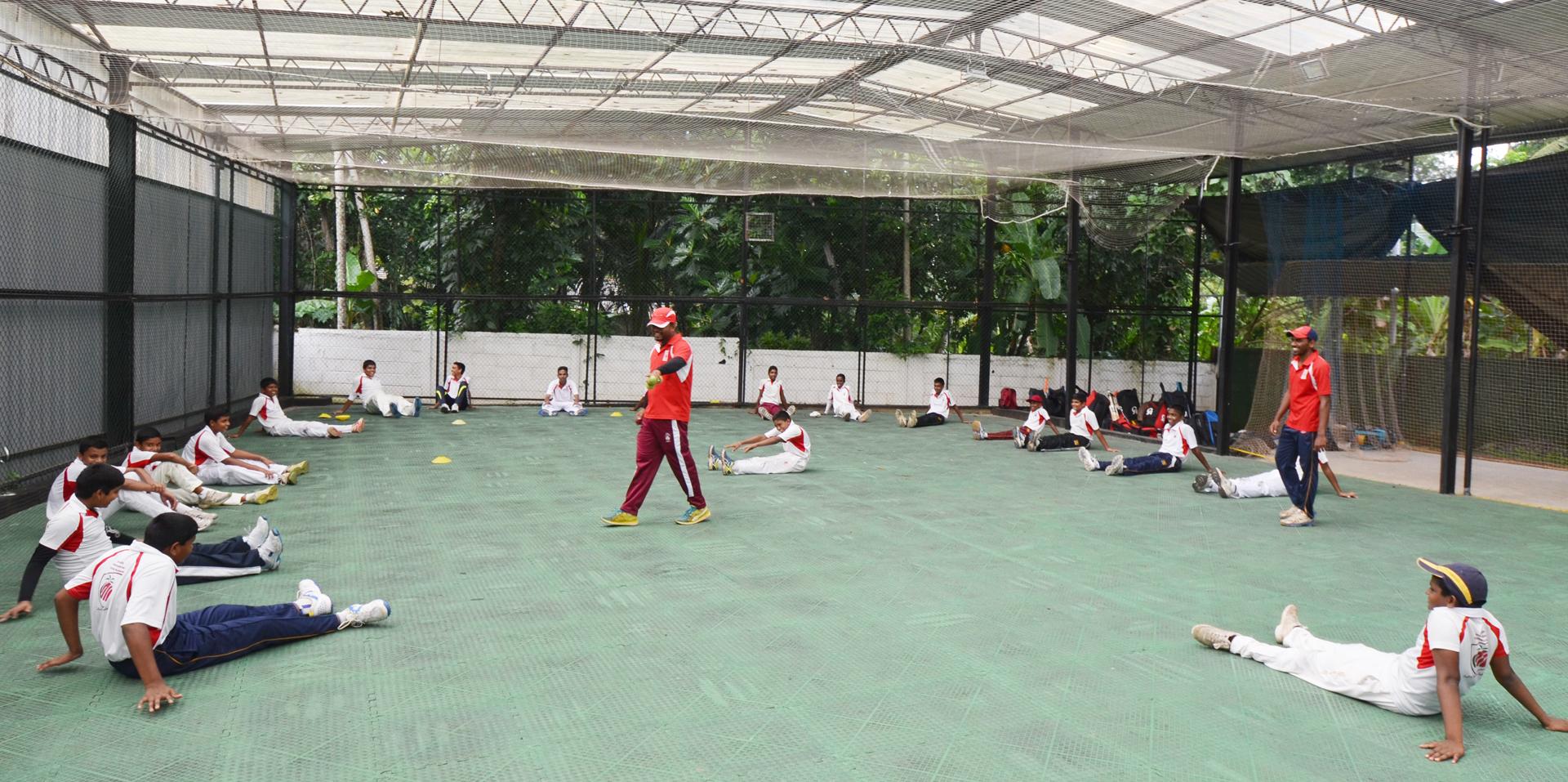 Indoor Fielding & Fitness Area